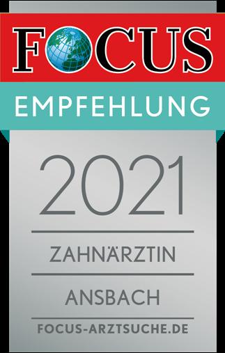 Focus Empfehlung 2021 Dr. Wolff Ansbach